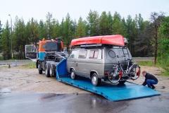 Finnland, Motor läuft nicht mehr. Später stellt sich heraus, dass Wasser im Tank ist.