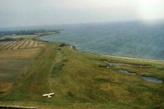 Gras-Landebahn der Insel Veirö in der Dänischen Südsee.